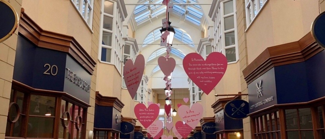 Love is in the air at Sanderson Arcade