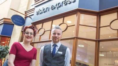 Kate and Craig set their sights on a new venture at Morpeth's Vision Express Store