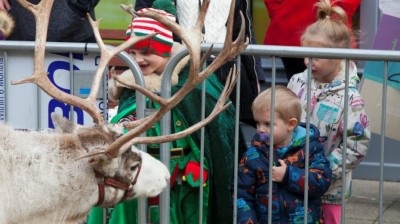 Mr and Mrs Claus return with their reindeer for the Christmas Student Market.